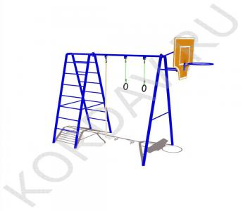 С баскетбольным кольцом, кольцами, лестницей и канатом СК 6.371 (0)