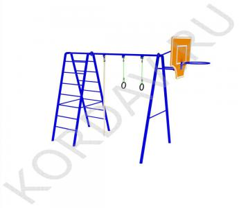 С баскетбольным кольцом, кольцами, лестницей и канатом СК 6.371 (1)