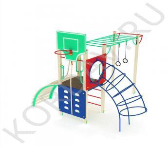 Спортивный комплекс с баскетбольным кольцом кольцами турником рукоходом СК 6.551 (1)
