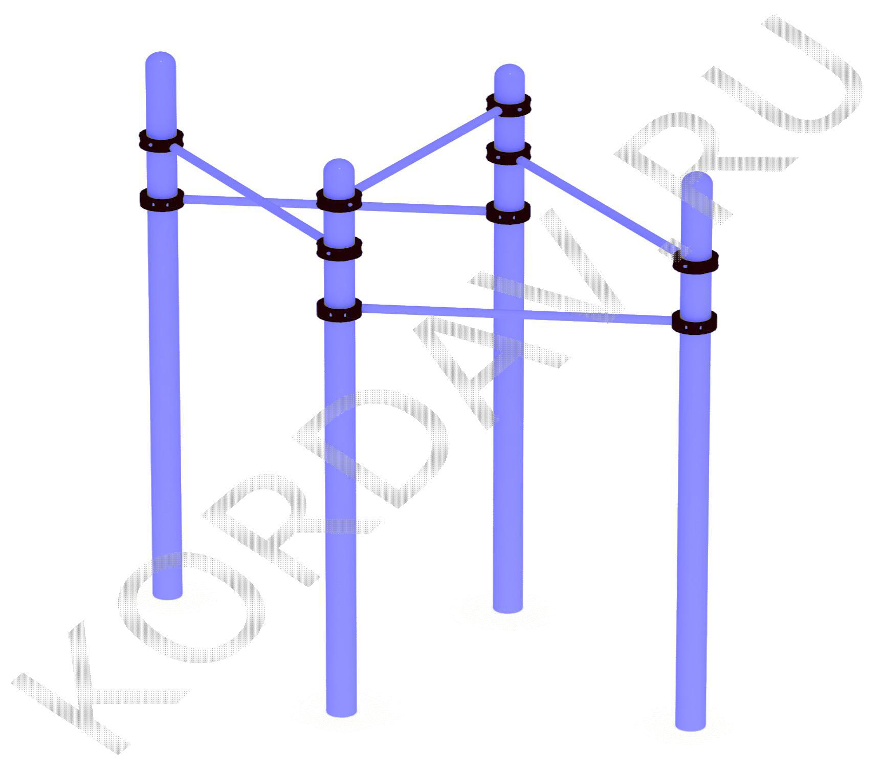 Каскад турников (89 труба) СТ 1.151