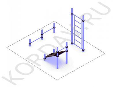 Шведская стенка упор для отжимания наклонная доска (89 труба) СТ 1.491 (0)