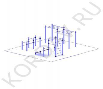 Рукоход, скамья, турники, шведская стенка, брусья (89 труба) СТ 1.571 (0)