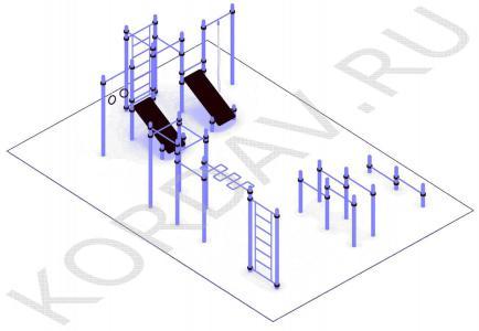 Многофункциональный воркаут (89 труба) СТ 1.651 (1)