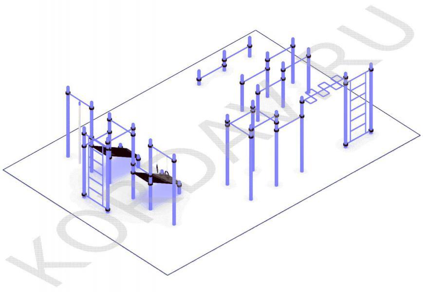 Многофункциональный воркаут (89 труба) СТ 1.651 (2)