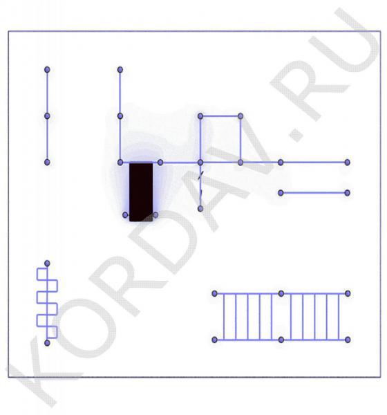 Рукоход, лавка наклонная, брусья, кольца (89 труба) СТ 1.751 (0)
