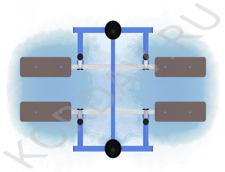 Тренажёр Двойные лыжи СТ 3.091 (4)