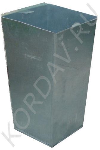 Вкладыш для урны оцинкованный четырёхгранный Корда 033г