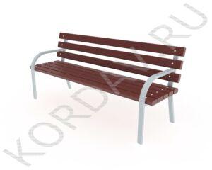 Скамья парковая с деревянной  спинкой МАФ 10.241 (1)