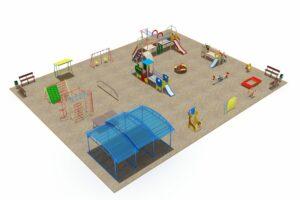 Детская площадка из 23 элементов