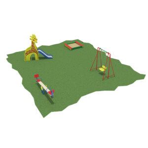 Детская площадка из 4 элементов