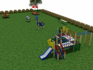 Детская площадка из 7 элементов