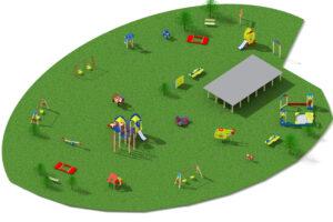 Детская площадка из 24 элементов