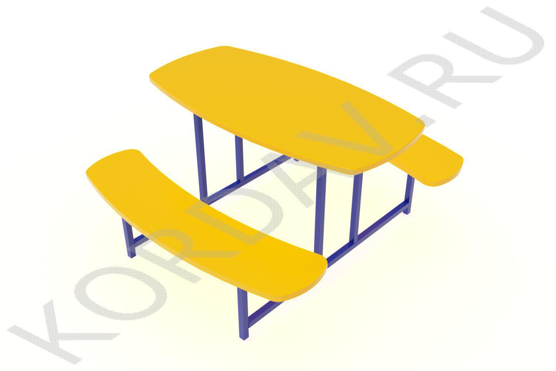 Столик овальный МАФ 10.042