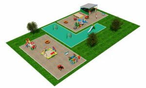 Детская площадка с беседкой