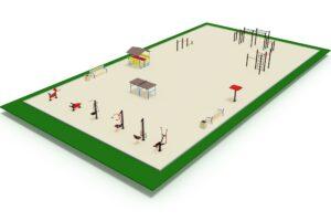 Спортивная площадка с беседкой