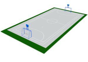 Спортивная площадка для игры в минифутбол и баскетбол