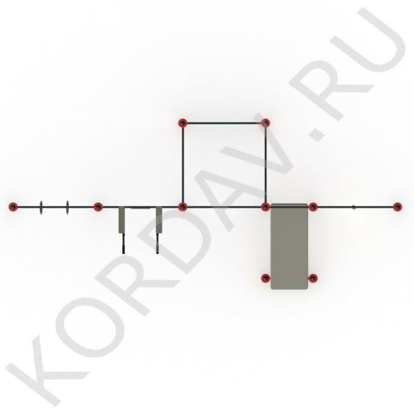 Канат, кольца, турники, шведская стенка, лавка для пресса Воркаут СТ 1.831 (89 труба) (0)