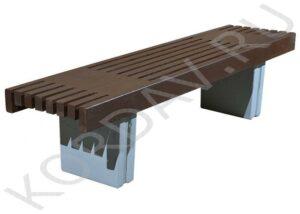 Лавочка бетон-дерево СК Корда 15