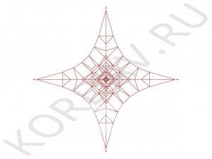 Канатная площадка красный канат КП1 (1)