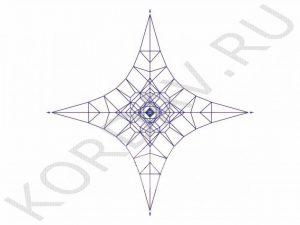 Канатная площадка синий канат КП2 (1)