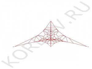 Канатная площадка красный канат КП1 (0)