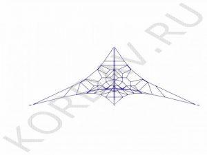 Канатная площадка синий канат КП2 (0)