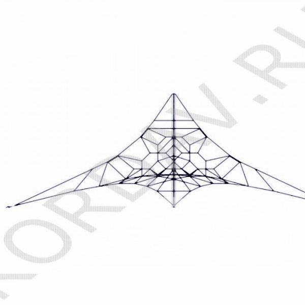 Канатная площадка чёрный канат КП3 (1)