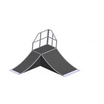 «Застава»,разгонная горка радиусная - подиум РК16