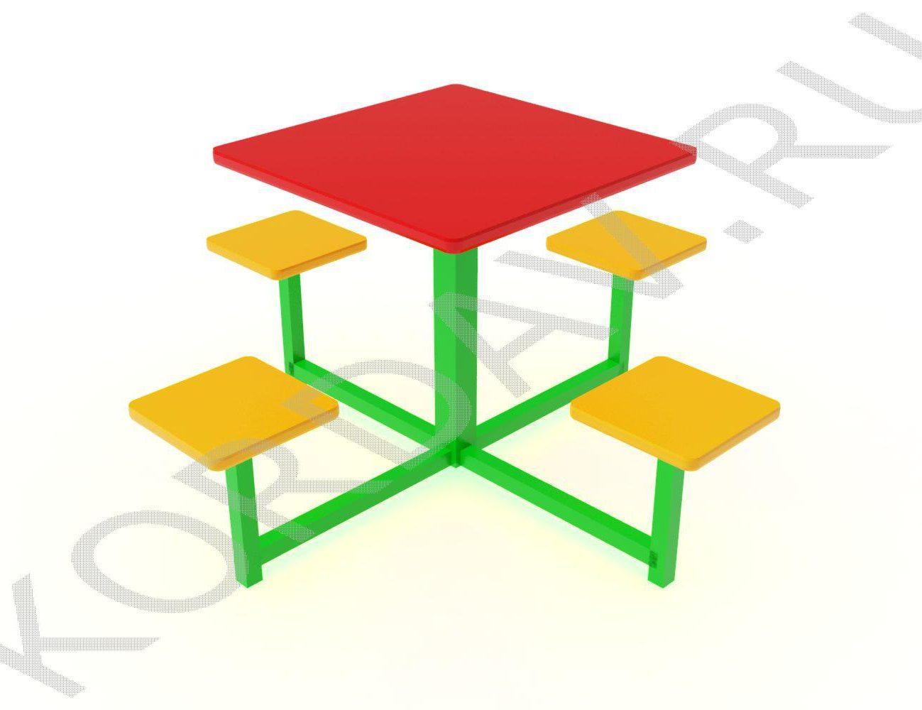 Столик детский квадратный МАФ 10.043