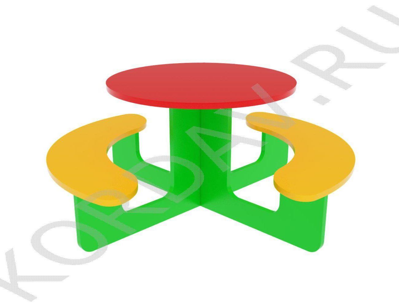Столик детский круглый МАФ 10.044