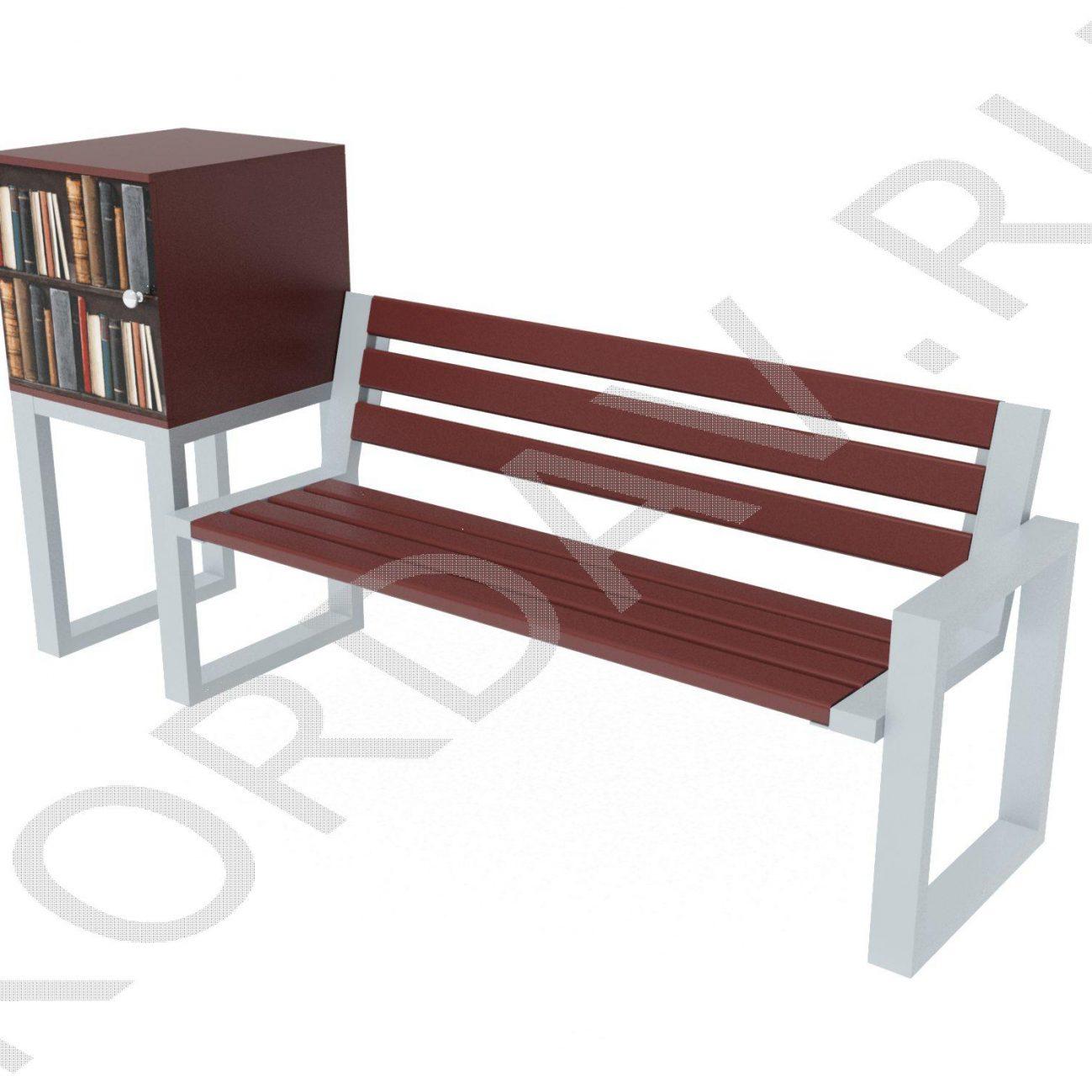 Скамья с подставкой для книг МАФ 10.251