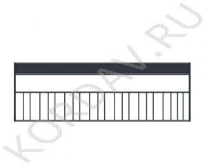 Стойка велосипедная на 10 велосипедов с информационной панелью МАФ 11.083 (0)