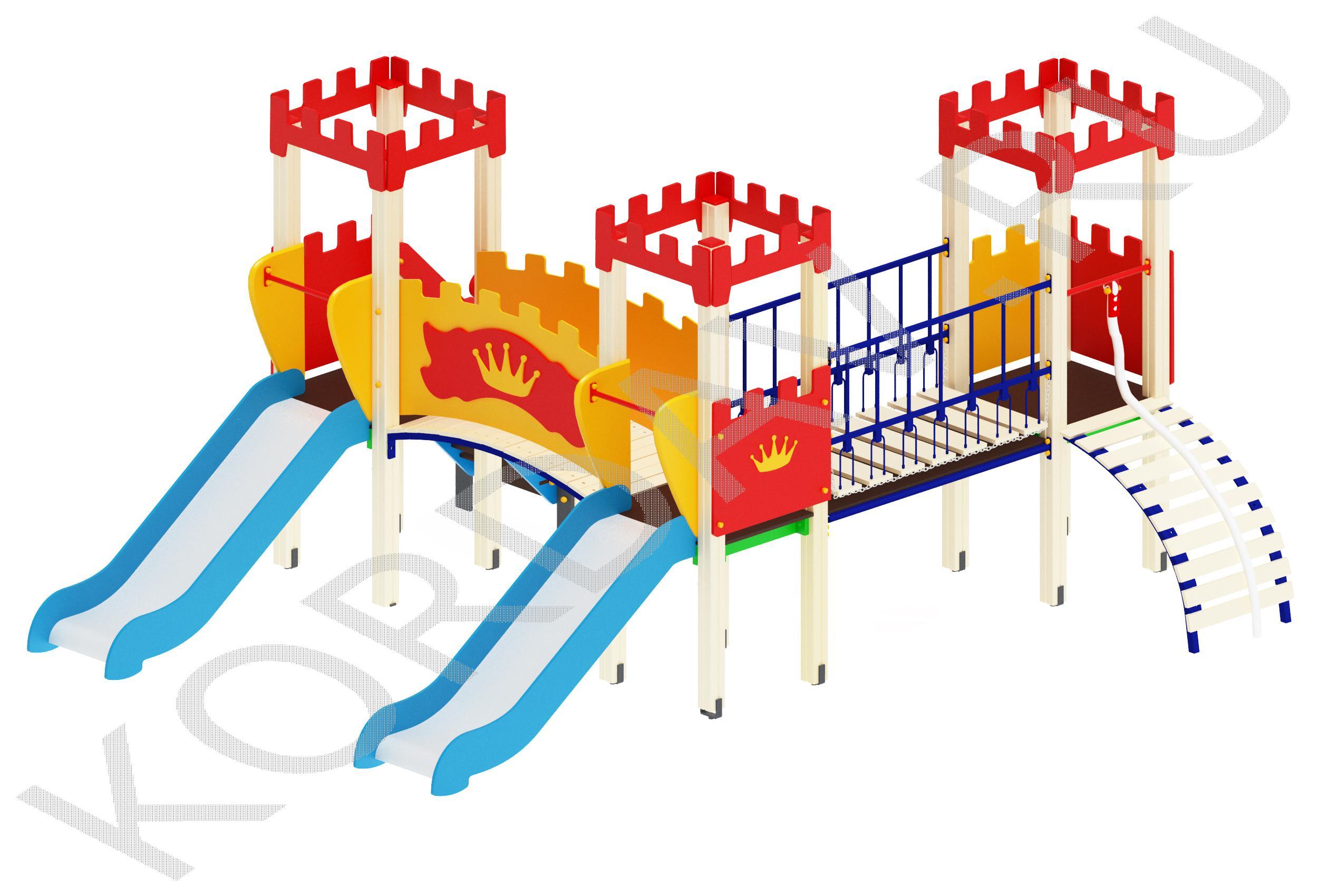 Детский комплекс с тремя башенками ПДИ 1.10