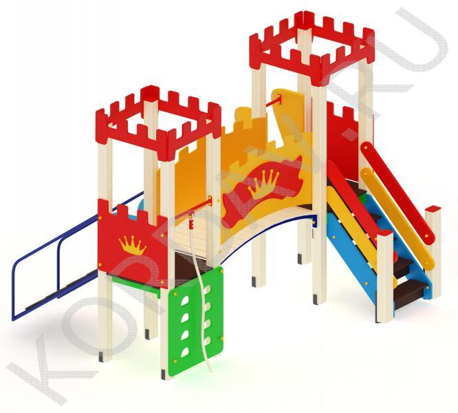 Игровой комплекс с двумя башнями и домиком ПДИ 1.13 (0)