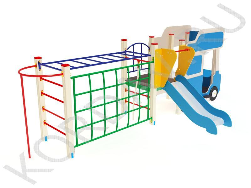 Грузовик с горкой шведской стенкой и рукоходом ПДИ 1.26 (0)